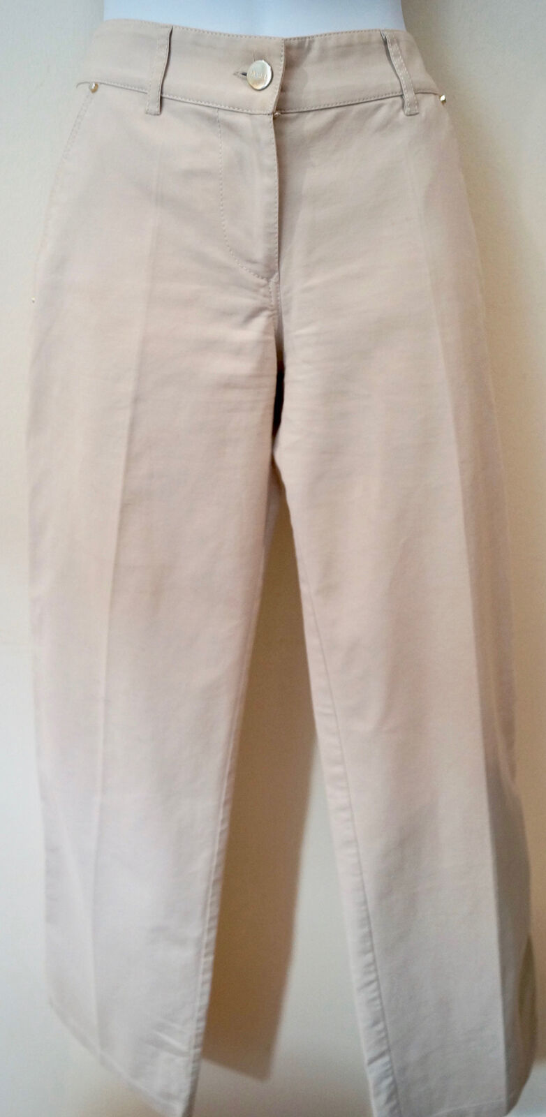 Bui DE Barbara Barbara Barbara Bui donna Beige Cotone Casual Stretch Pantaloni Pants XS 5f01c8