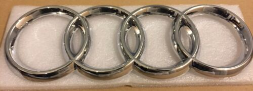 A4 Chrome Front Grille Badge Rings Logo 273mm 94mm High Quality Audi TT