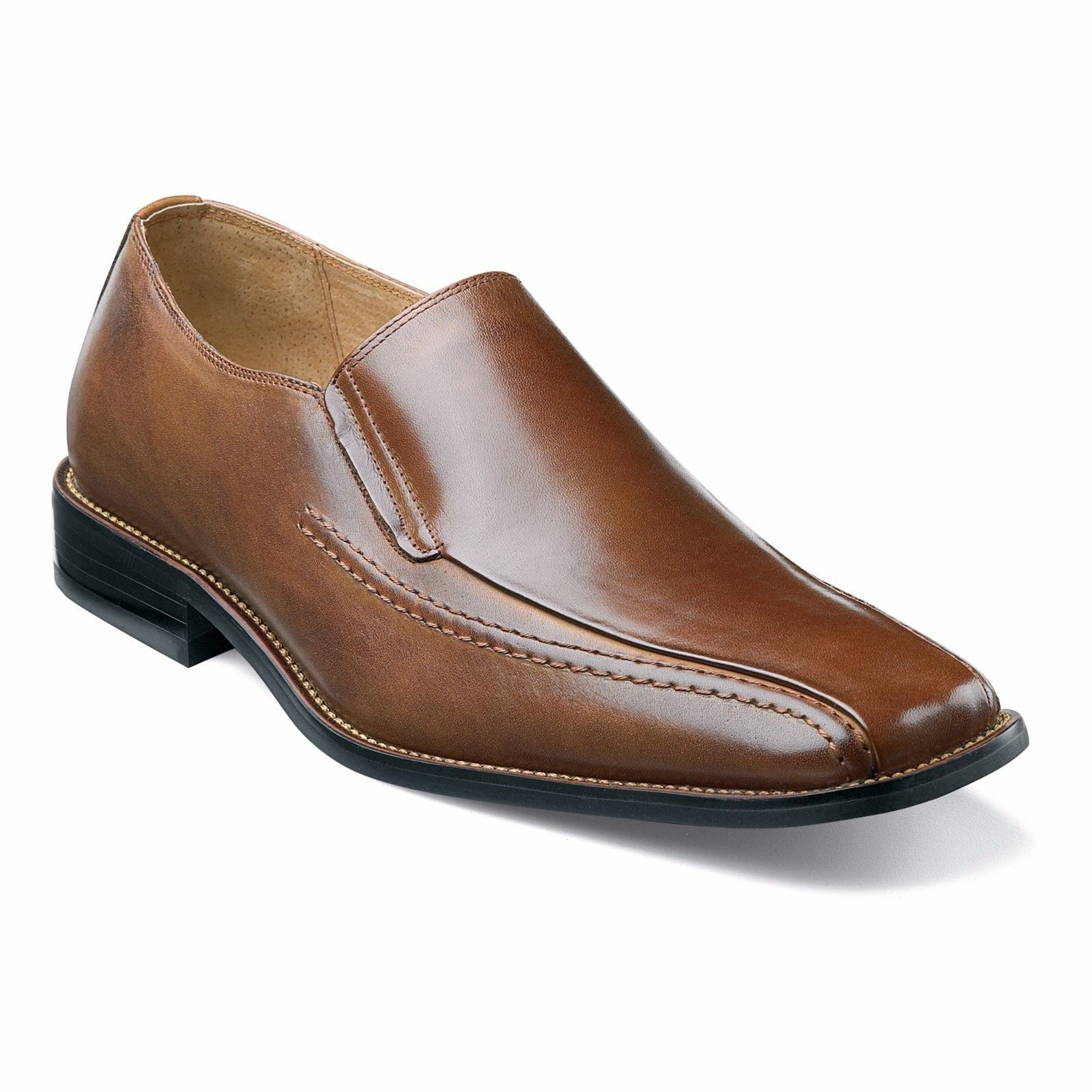 Stacy Adams Herren Cognac Hillman Festliches Kleid ohne Bügel Leder-Slipper
