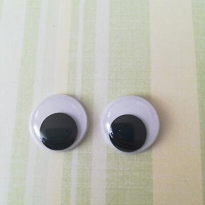 Kulleraugen rund 20 mm  Augen zum Aufkleben 10 Große Wackelaugen