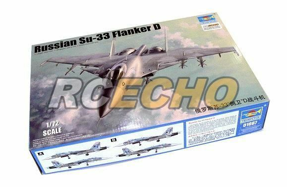 TRUMPETER Aircraft Model 1 72 Russian Su-33 Flanker D Scale Hobby 01667 P1667
