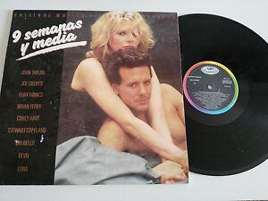 """9 Wochen Y Media - Ost Bso - LP 12 """" - vinyl - G VG 1986 Spanisch Org Pres"""