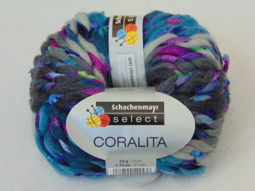 100g//5 € 50g-Garn-lana Coralita-Schachenmayr Select