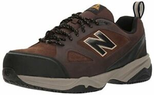 New-Balance-Mens-MID627B2-Leather-Low-Top-Lace-Up-Brown-Black-Size-12-0-Yc5c