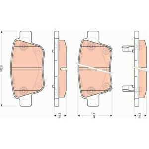 TRW-Plaquette-de-frein-gdb3456-plaquettes-de-frein-Toyota-Alphard-Vellfire-ggh2-anh2-ath2