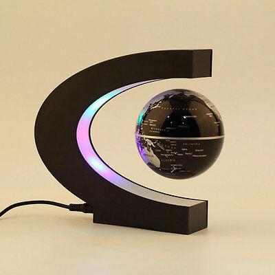 C shape LED World Map Decoration Magnetic Levitation Floating Globe Light NEW WL