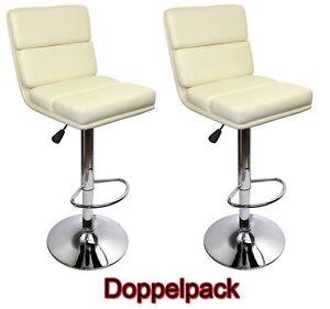 2x-EDEL-Designer-Barhocker-Bar-Tresen-Hocker-Stuhl-M30-creme