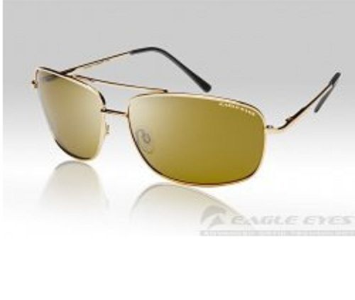 fa8642393c345 Eagle Eyes Navigator Gold Polarized Sunglasses Model   14100 With Tags for  sale online