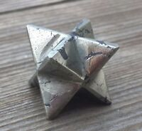 Natural Pyrite Gemstone Merkaba Star (one) - Buy It Now