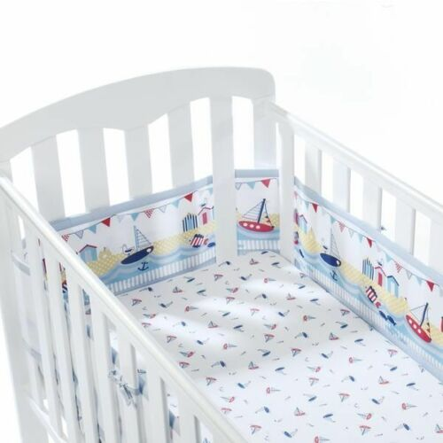 4 Sided Crib Cot Breathable Baby Airflow Mesh Baby 2 Cotbed Liner Bumper