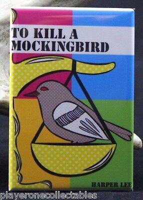 """To Kill a Mockingbird 2/"""" X 3/"""" Fridge Locker Magnet Harper Lee."""