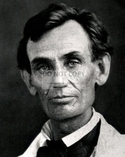 ABRAHAM LINCOLN IN 1858-8X10 AMBROTYPE PHOTO ZZ-071