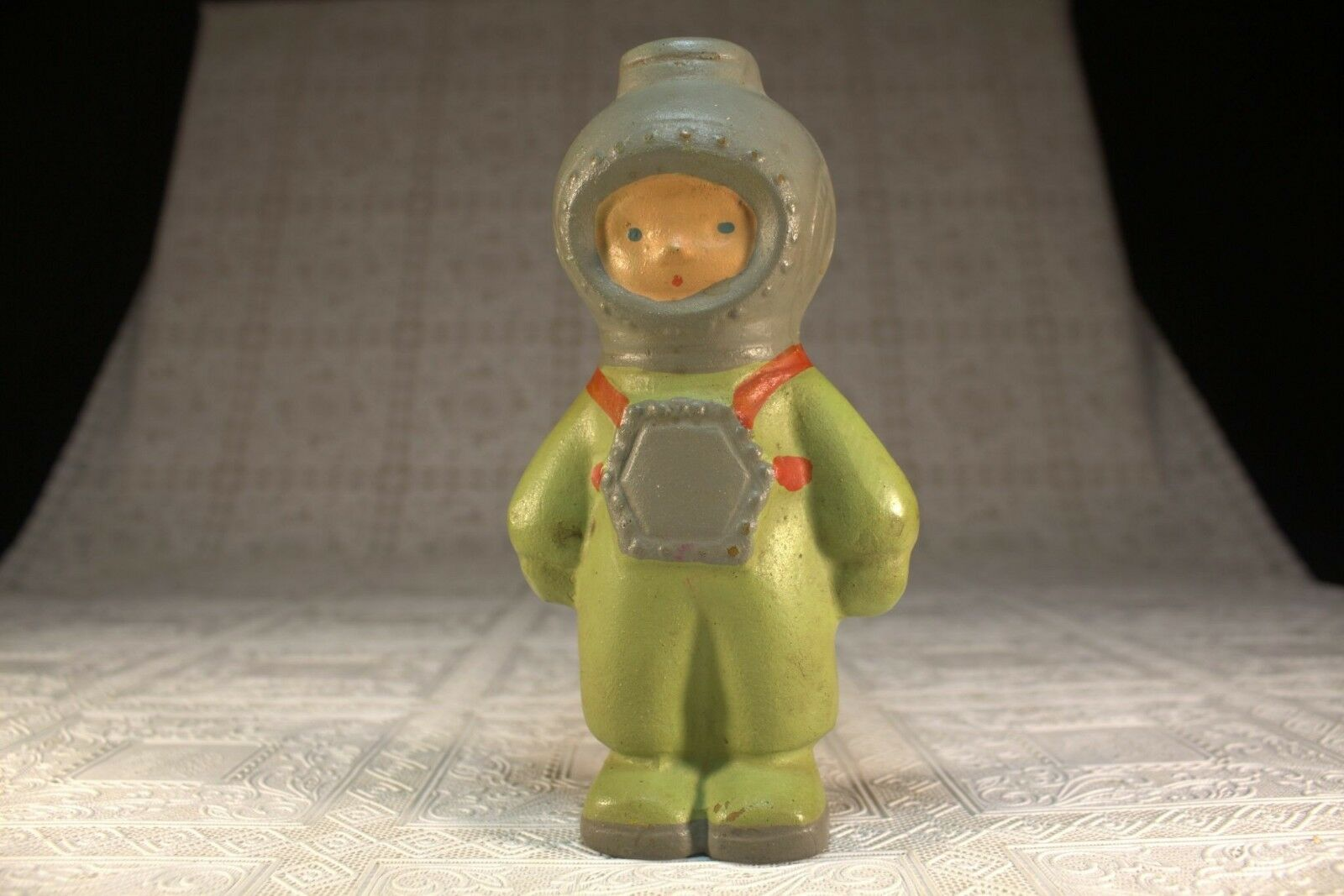 Rare Soviet Ussr Russian Doll rubber DIVER toy - 1960s