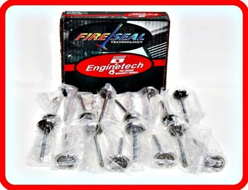 8 8 Exhaust Valves 75-79 Dodge//Chrysler//Mopar 360 5.9L OHV V8 Intake /&