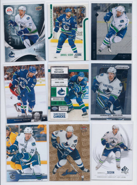 Daniel Sedin lot of 9 cards Canucks all different Ultra SP UD Contenders Prizm