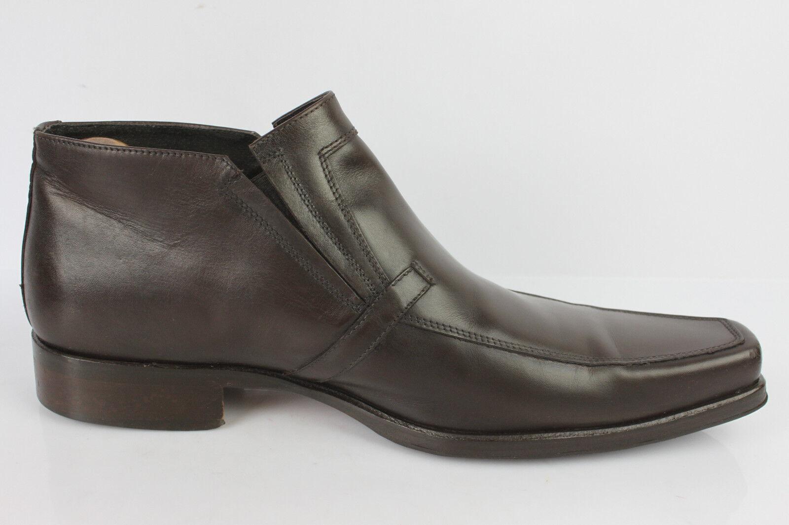 Bottines botas Tout Cuir Marron Marron Marron Made in Italy IT 44 / FR 45 TBE 2596ad