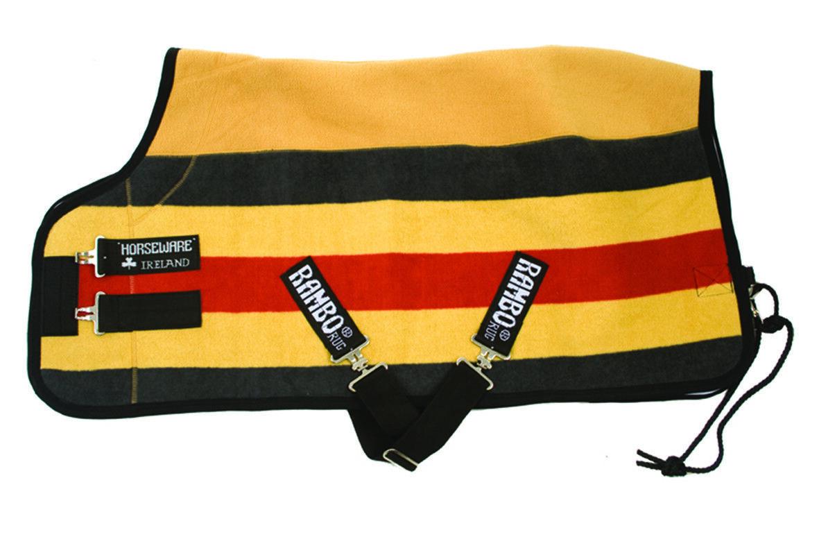Horseware Ireland Rambo Deluxe Fleece Stable Sheet Double Bonded Anti-Piling