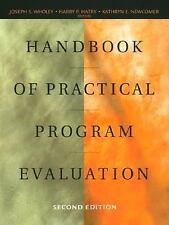 Handbook of Practical Program Evaluation (Jossey Bass Nonprofit & Public Managem