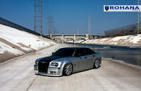 22x9 22x10.5 +18 Rohana Rc10 5x115 Silver Wheel Fit Dodge Charger 2013 Staggered