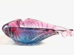 Murano-Glass-Sommerso-Controlled-Bubble-Ashtray-Bowl-Cenedese-Seguso-Ferro-MCM