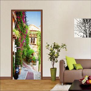 3D Flowers Town 06 Door Wall Mural Photo Wall Sticker Decal Wall AJ WALLPAPER AU