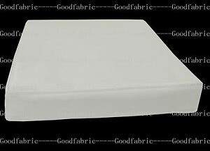pe229t-Cream-White-Faux-Leather-Classic-Pattern-3D-Box-Seat-Cushion-Cover-Custom