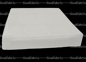 pe229t-Cream-White-Faux-Leather-Classic-Pattern-3D-Box-Seat-Cushion-Cover-Custom