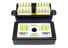 Cat6 Inline Punchdown Krone Cable Lead Coupler BLACK