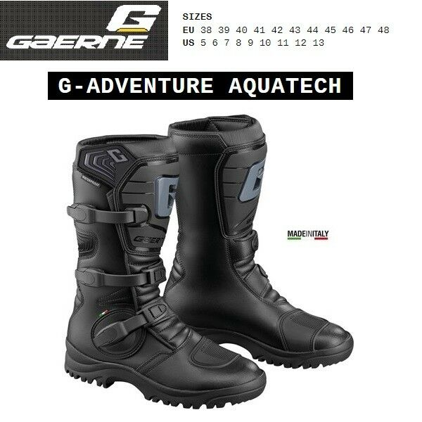 Stivali adventure touring moto GAERNE G ADVENTURE AQUATECH black nero 2525001