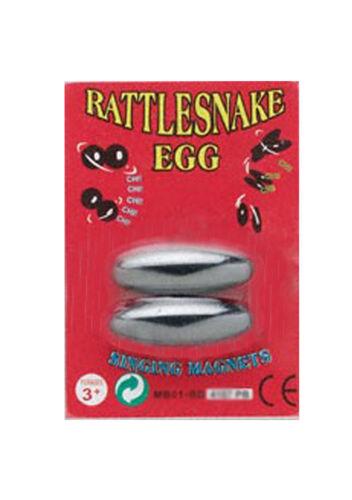 Uncarded Pair Of Singing Rattlesnake Eggs ,,