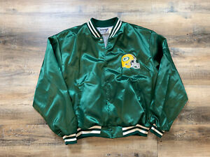 Vintage-SWINGSTER-Green-Bay-Packers-Satin-Varsity-Jacket-80s-90s-Favre-2XL