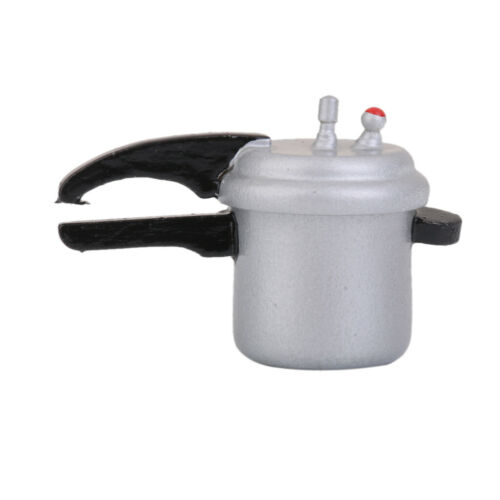 Dolls House Miniature kitchen Pressure Cooker w// Removable Lid 1//12 Scale