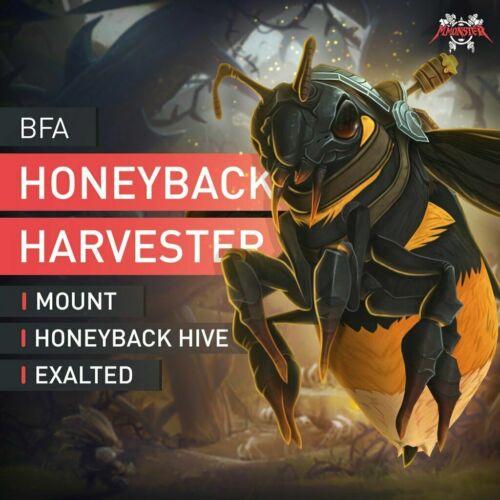 BFA Erbeutung von Harnisch der Honigrückenernterin Reittier Boost Boosting WoW