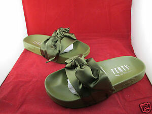 d17f19084ca2 Puma Bow Slide x Fenty Rihanna Olive 3 4 5 6 7 All Sizes 365774-01 ...