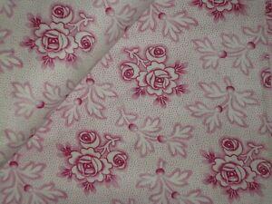 50 cm  unbe Altes Bauernstoff  Bauernbettwäsche-Stoff  Rosen Rosapink 126  cm