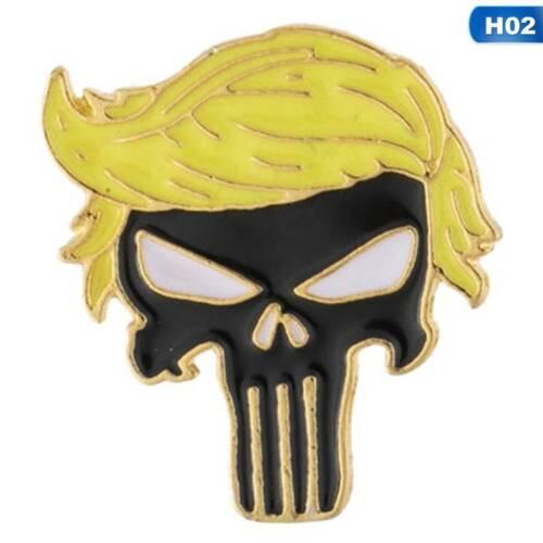 Trump 2020 Emaille Pinnen Amerika Präsident Brosche Mantel Schmuck Broschen