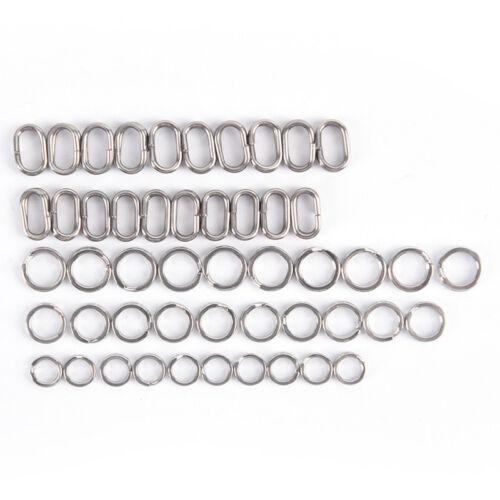 200X 5 Größen Edelstahl Runde Split Ringe Kleine Doppel Ring Schmuck Machen ZJHN
