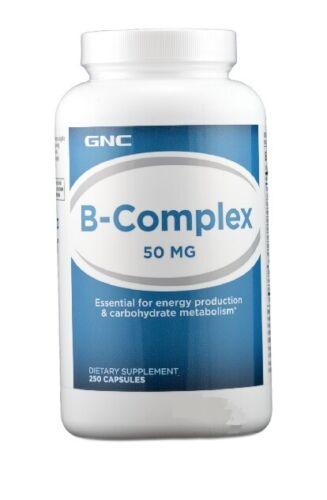 Gnc B Complex 50 Mg 250 Capsules Exp April 2018 For Sale Online Ebay