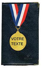 Etui carte grise noir en cuir papiers de voiture permis medaille  à personnalise