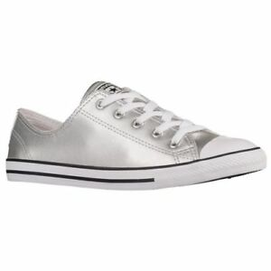 0de4a6868b5a13 Converse Chuck Taylor All Star Women s Dainty Metallic Leather Shoe ...