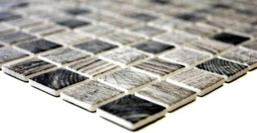 63-312/_b Mosaïque Carreau Verre une structure en bois gris clair Mur Sol Carrelage miroir type