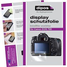 6x Canon EOS 70D Protector de Pantalla protectores transparente
