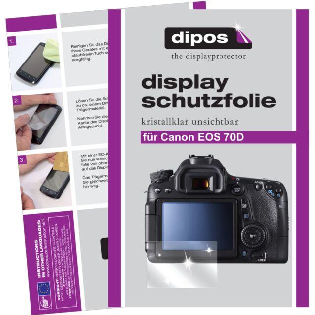 6x Canon EOS 70D Schutzfolie klar Displayschutzfolie Folie dipos Displayfolie