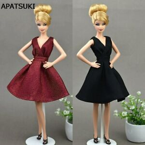 Classical-Evening-Dress-Purely-Manual-Clothes-for-1-6-BJD-Barbie-Doll-Kids-Toy