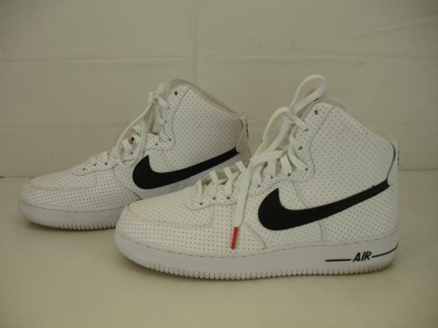 Homme 11.5 45.5 Nike Air Force 1 Haute Blanc 07 315121-120 NOIR Basket Chaussures