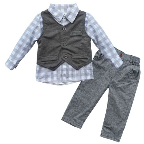 Baby Boys Gentleman Formal Outfit Wedding Party Pageant Costume Suit Photo Props