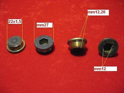 4 Dado in Bronzo Per Collettore Scarico Marmitta Auto Epoca M8x1,25x16mm