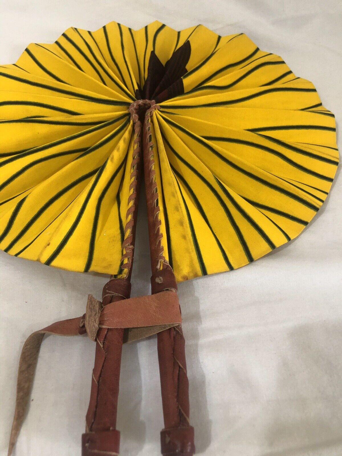 Burgundy And Yellow Ankara Dashiki Kitenge Handmade Fan