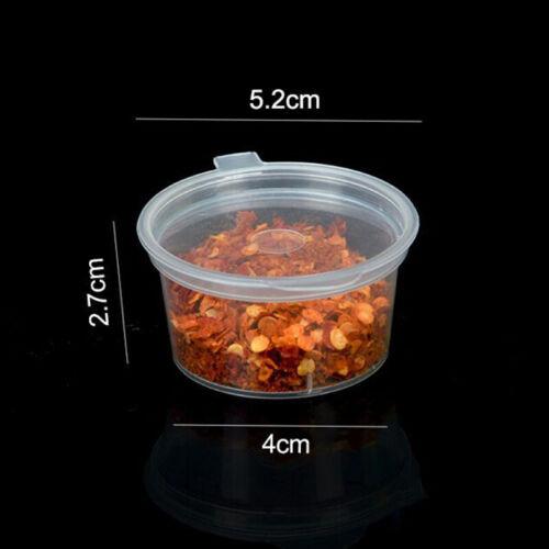 50tlg// 100tlg Kleine Plastik-Saucenbecher Frischhaltedosen Klare Boxen Deckel