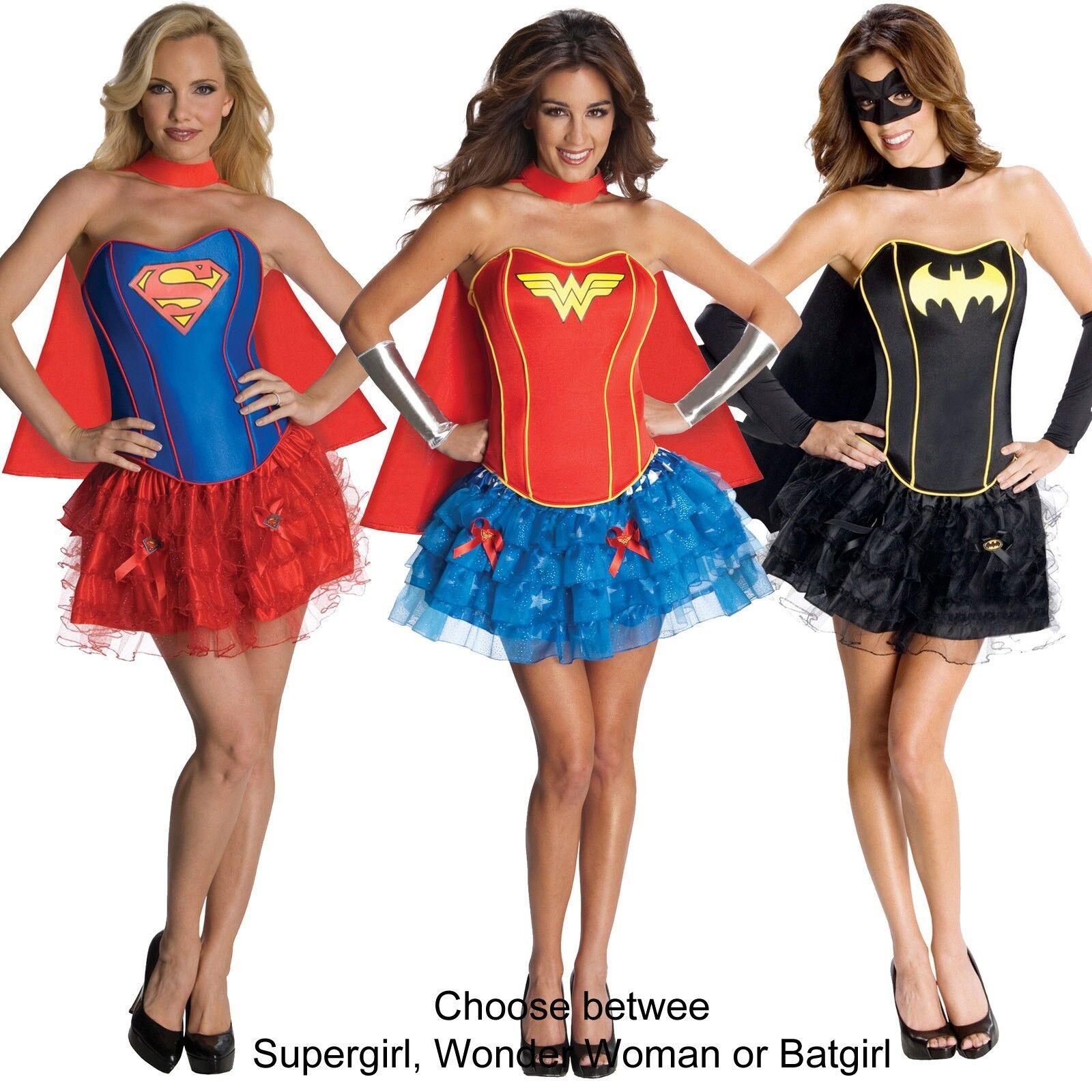 DC Superhero Supergirl / Wonder Woman / Batgirl Sexy Corset Costume
